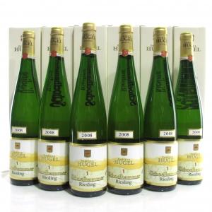 """Hugel """"Schoelhammer"""" Riesling 2008 Alsace 6x75cl / Original Wooden Case"""