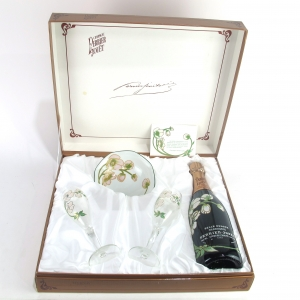Perrier-Jouet Belle Epoque 1983 Champagne / 2 Glasses & Bowl Giftset