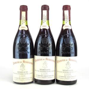 Ch. De Beaucastel 1981 Chateauneuf-Du-Pape 3x75cl