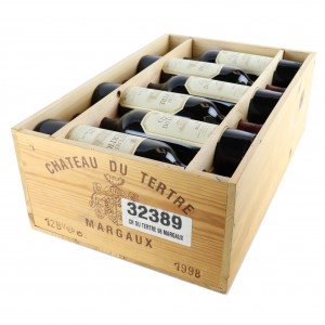 Ch. Du Tertre 1998 Margaux 5eme-Cru 12x75cl / Original Wooden Case