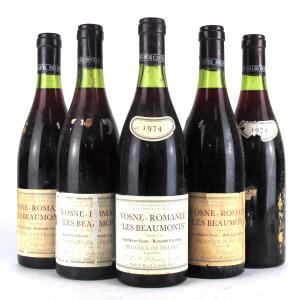 "Lebegue ""Les Beaumonts"" 1974 Vosne-Romanee 1er-Cru 5x73cl"