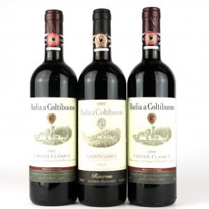 Badia A Coltibuono 1997, 2003 & 2004 Chianti Classico 3x75cl