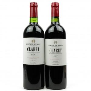 Fortnum & Mason Claret 2003 & 2004 Bordeaux Superieur 2x75cl