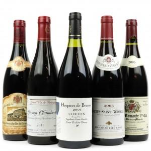 Assorted Burgundian Pinot Noir 5x75cl