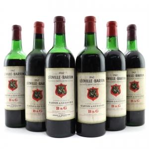 Ch. Leoville Barton 1962 Saint Julien 2eme-Cru / 6 Regular Bottles