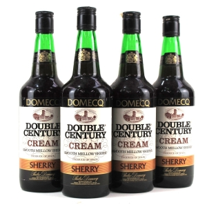 "Domecq ""Double Century"" Cream Sherry / 4 Bottles"