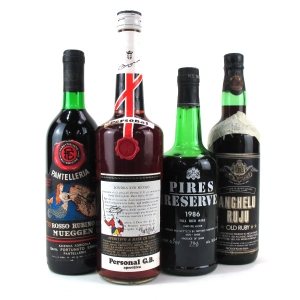 Assorted Red & Fortified Wines 4x75cl