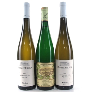 Markus Molitor Riesling 2007 Mosel & M.F.Richter Auslese 2001 Mosel 3x75cl