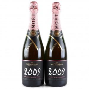 Moet & Chandon Rosé 2009 Vintage Champagne 2x75cl