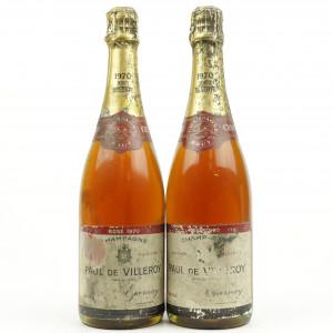 Paul De Villeroy Brut Reserve Rose 1970 Vintage Champagne 2x75cl