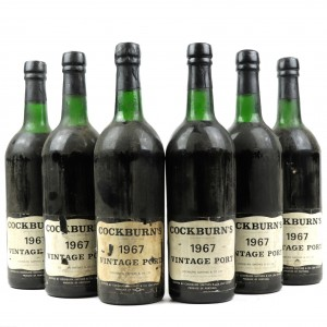 Cockburn's 1967 Vintage Port / 6 Bottles