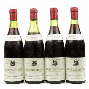 Chanson Pere & Fils Clos Des Feves 1971 Beaune 4x75cl