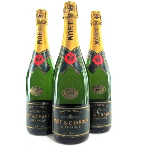 Moet & Chandon 1992 Vintage Champagne 3x75cl