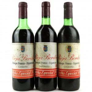 Bodegas Franco-Espanolas 1970 Rioja 3x70cl