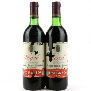 Bodegas Franco-Espanolas Royal 1964 Rioja Reserva / 2 Bottles