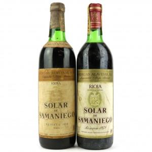 Alavesas Solar De Samaniego 1968 & 1978 Rioja Reserva / 2 Bottles