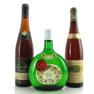 Assorted German Wines 1962 3xBottles