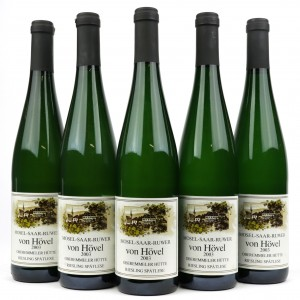 Von Hovel Oberemmeler Hutte Riesling Spatlese 2003 Mosel 5x75cl