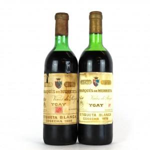 Marques De Murrieta Etiqueta Blanca 1969 & 1978 Rioja Crianza / 2 Bottles