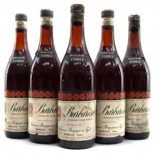 Borgogno 1980 Barbaresco Riserva 5x75cl