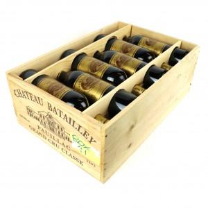 Ch. Batailley 2002 Pauillac 5eme-Cru 12x75cl / Original Wooden Case