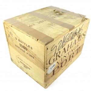 Graham's 1980 Vintage Port 12x75cl / Original Wooden Case