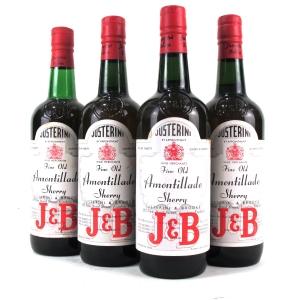 "Justerini & Brooks ""Fine Old"" Amontillado Sherry / 4 Bottles"