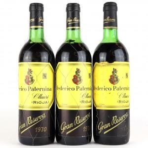 Federico Paternina 1970Rioja Gran Reserva / 3 Bottles