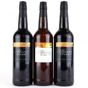 Alfaraz Cream & Fino Sherry 3x75cl
