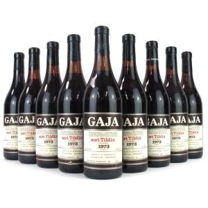 "Gaja ""Sori Tildin"" 1973 Barbaresco 9x72cl"