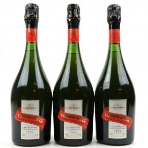 Mumm Cordon Rouge Brut 1990 Vintage Champagne 3x75cl