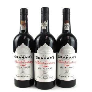 "Graham's ""Malvedos"" 1990 Vintage Port 3x75cl"