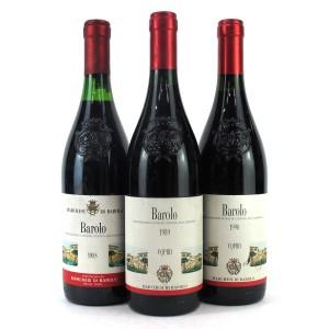 Marchesi Di Barolo 1988, 1989 & 1990 Barolo 3x75cl