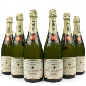 Moet & Chandon Dry Imperial 1975 Vintage Champagne / 6 Bottles