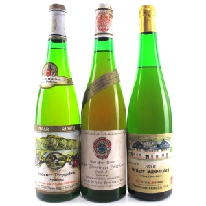 Assorted Wines 1962 Mosel 3xBottles