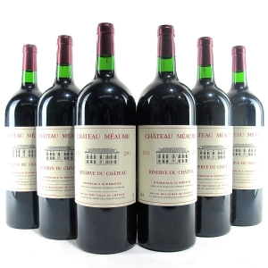 Ch. Meaume 2011 Bordeaux Superieur 6x150cl / Original Wooden Case