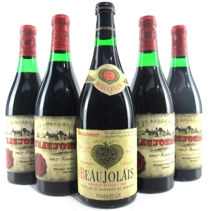 Assorted 1962 Beaujolais 5xBottles