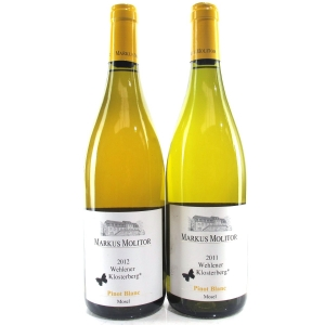 "M.Molitor ""Wehlener Klosterberg"" Pinot Blanc 2011 & 2012 Mosel 2x75cl"