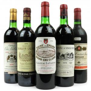 Assorted 1975 & 1978 Bordeaux / 5 Bottles
